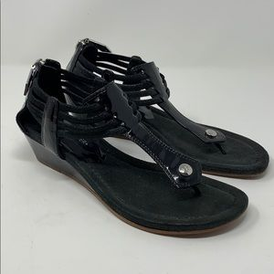 DONALD J PLINER SANDALS SHOES WEDGE Black 6.5